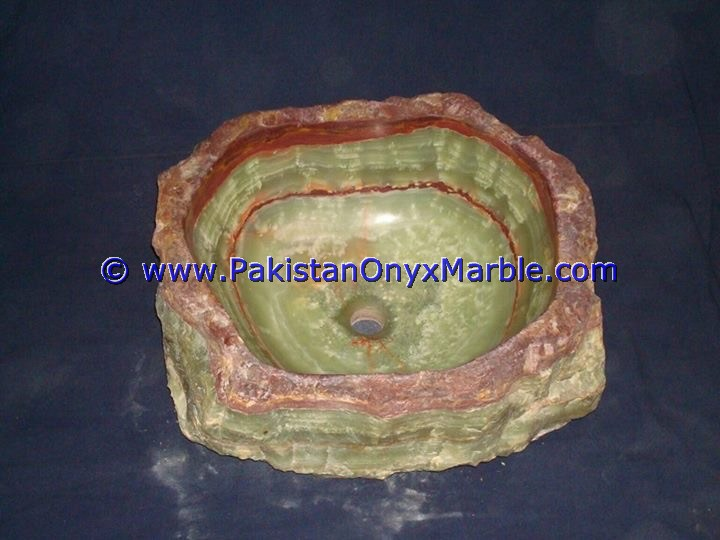 Green Onyx Rough Face Rectangle Shaped Sinks Basins-03