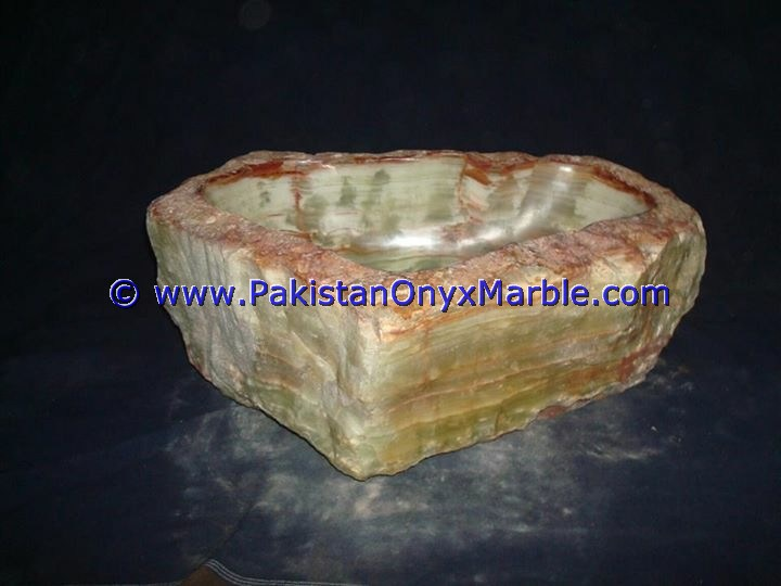 Green Onyx Rough Face Rectangle Shaped Sinks Basins-04