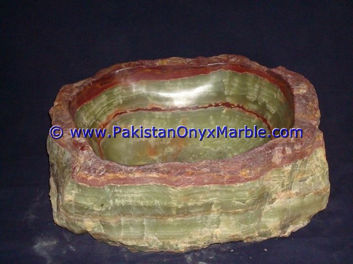 Green Onyx Rough Face Rectangle Shaped Sinks Basins-06