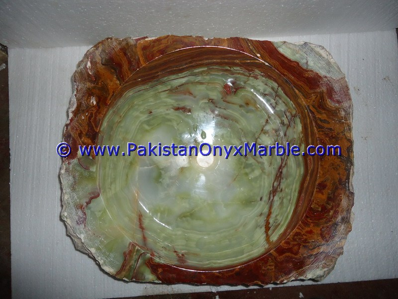 Green Onyx Rough Face Rectangle Shaped Sinks Basins-07