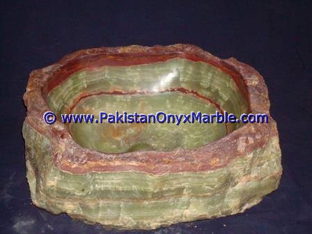 Green Onyx Rough Face Rectangle Shaped Sinks Basins-12