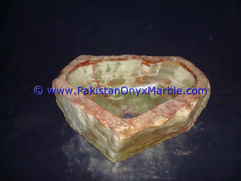 Green Onyx Rough Face Rectangle Shaped Sinks Basins-15