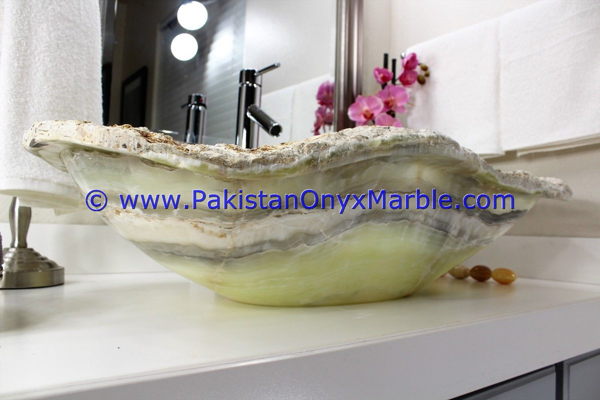 Green Onyx Rough Face Rectangle Shaped Sinks Basins-20