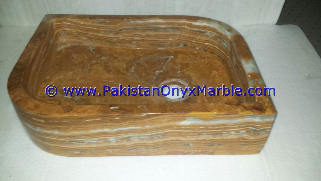 Brown Golden Onyx Rectangle Shaped Sinks Basins-05