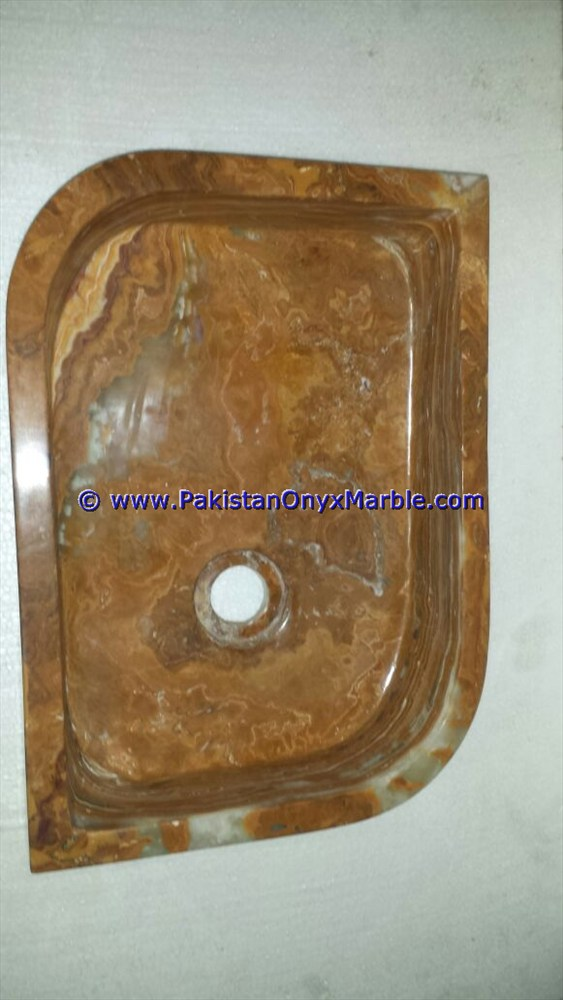 Brown Golden Onyx Rectangle Shaped Sinks Basins-07