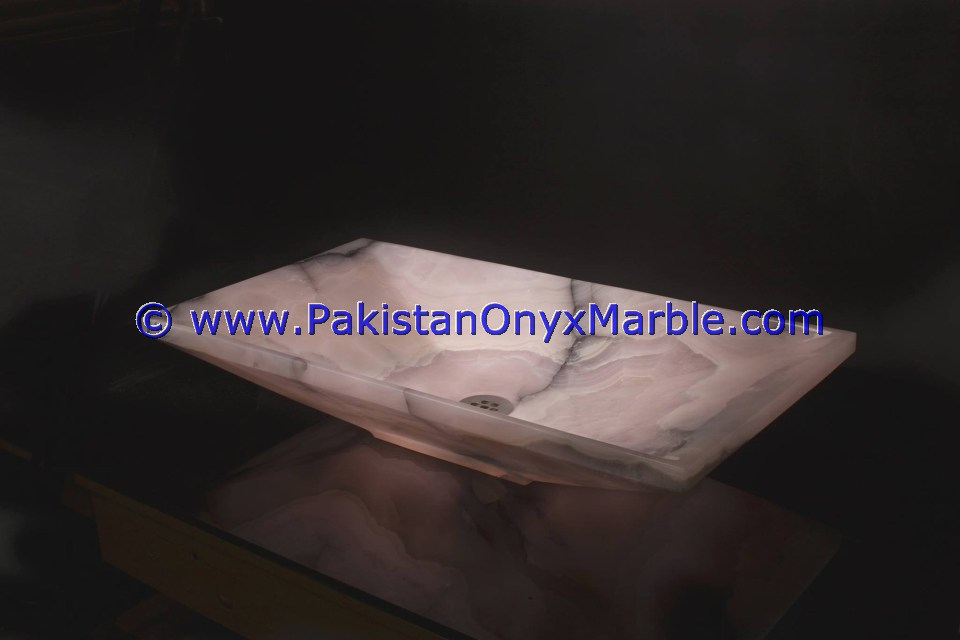 Pink Onyx Rectangle Shaped Sinks Basins-02