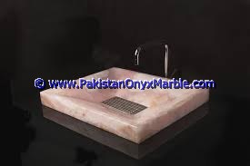 Pink Onyx Rectangle Shaped Sinks Basins-03