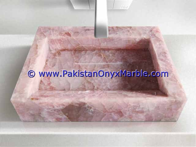 Pink Onyx Rectangle Shaped Sinks Basins-05