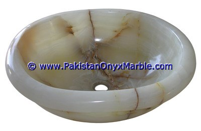 White Onyx oval Shaped Sinks Basins-04