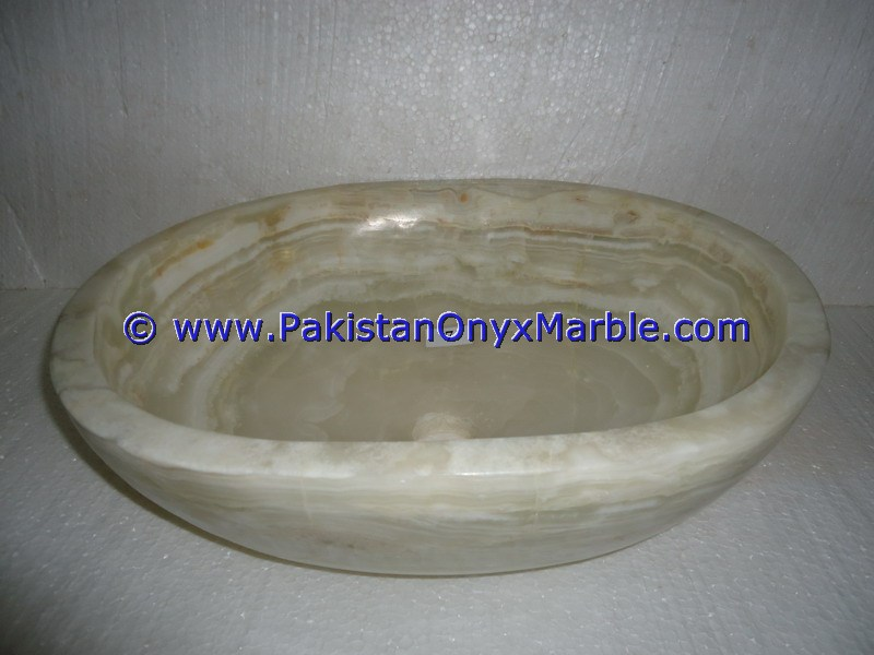 White Onyx oval Shaped Sinks Basins-09