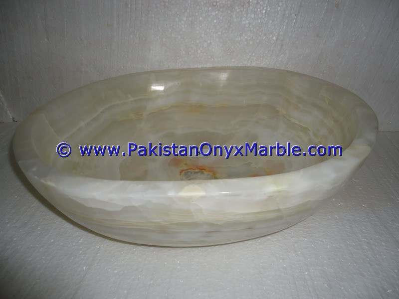 White Onyx oval Shaped Sinks Basins-10