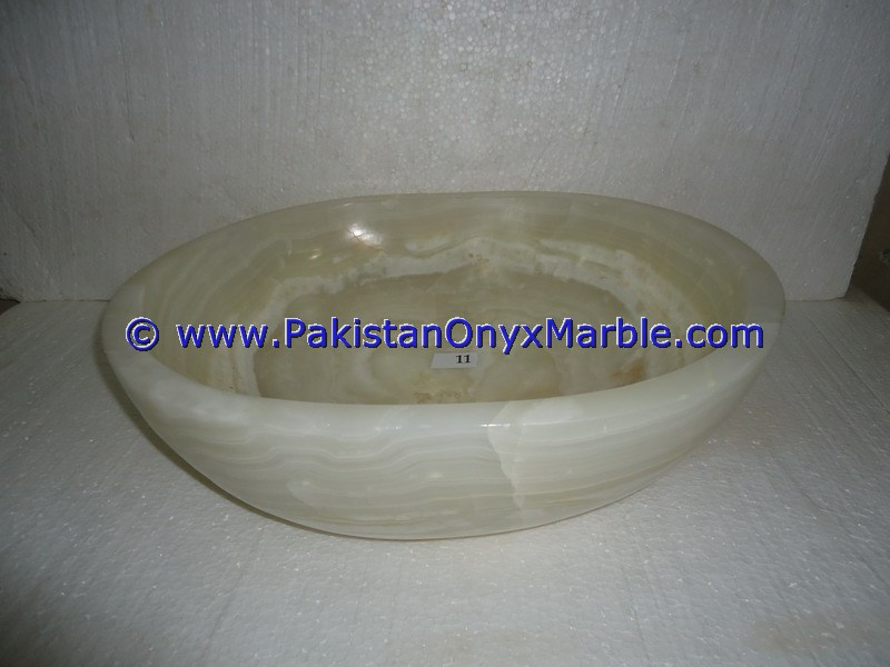 White Onyx oval Shaped Sinks Basins-12