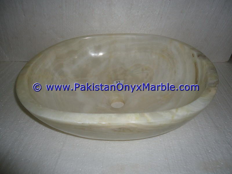 White Onyx oval Shaped Sinks Basins-15
