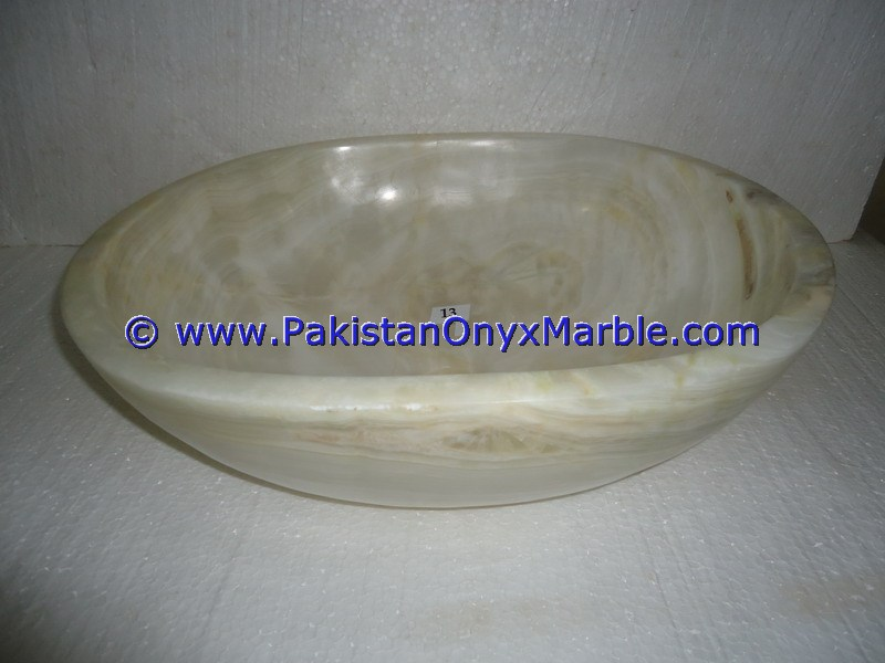 White Onyx oval Shaped Sinks Basins-16