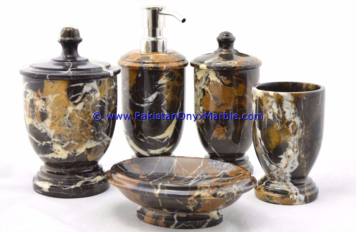 Black And Gold Marble Bathroom Accessories Novocom Top